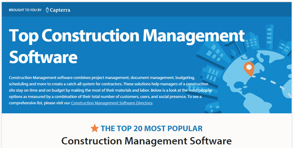 Capterra - BrickControl Top 20 Construction Management Software